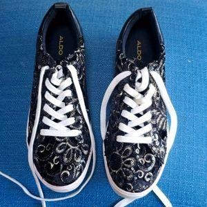 ALDO Sneaker size 10 Sparkle Brocade Print